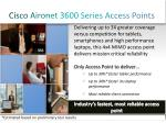 cisco aironet 3600 series access points