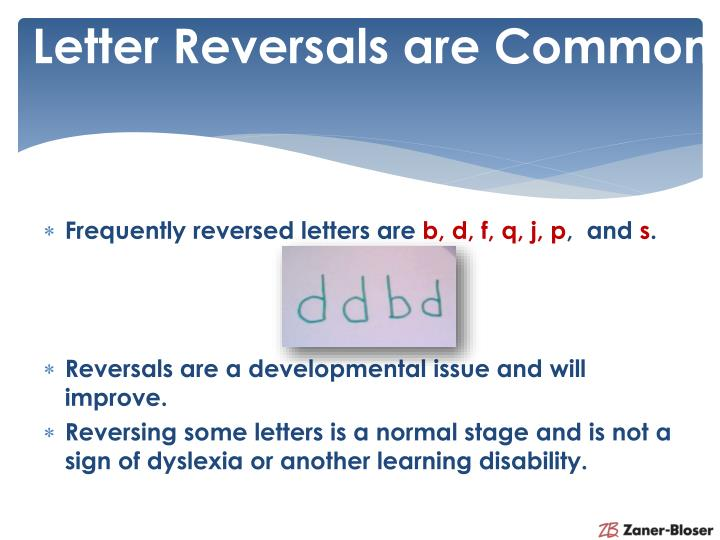 Letter Reversals are Common