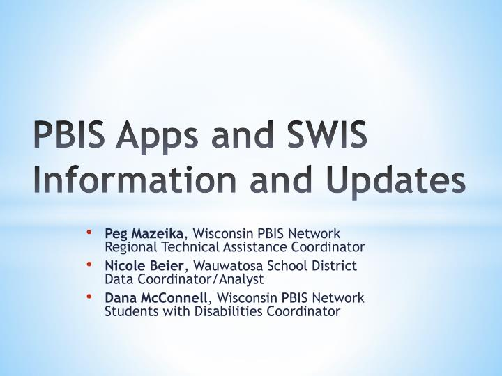 pbis apps and swis information and updates n.