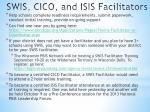 swis cico and isis facilitators