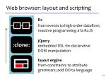 web browser layout and scripting