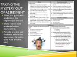 taking the mystery out of assessment