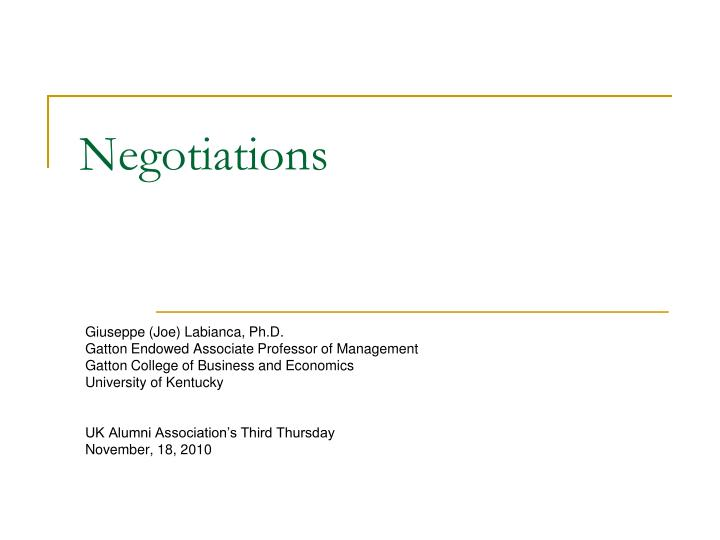 negotiations n.
