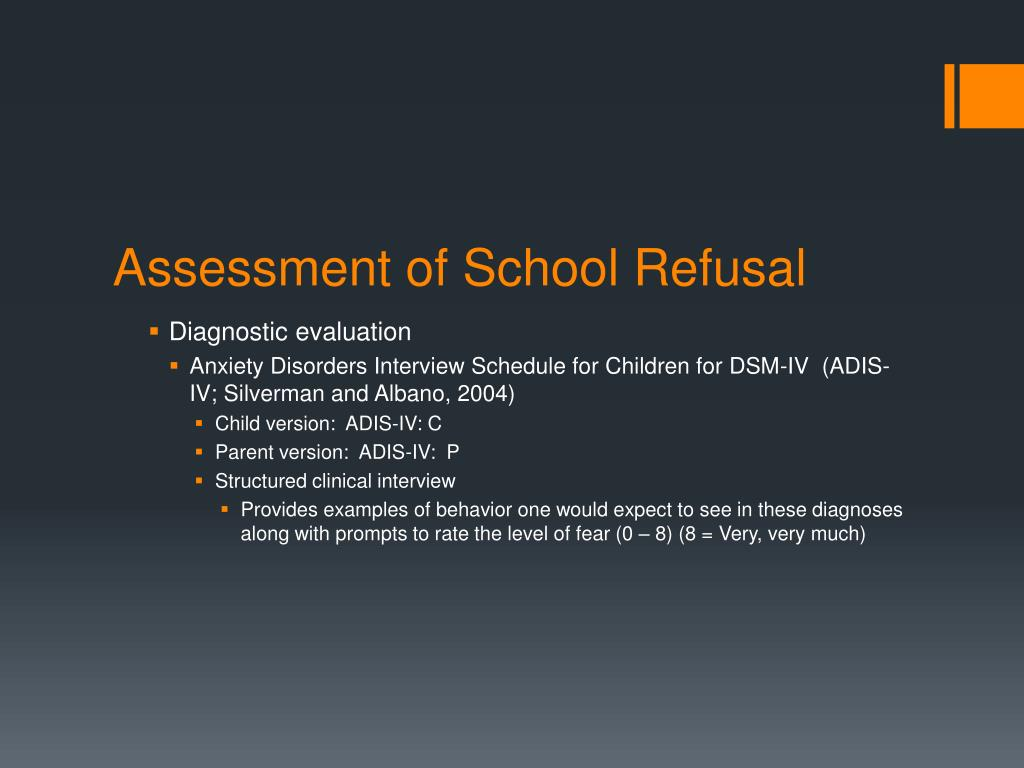 PPT - Cognitive Behavioral Therapy for School Refusal ...