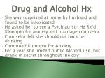 drug and alcohol hx3
