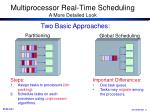 multiprocessor real time scheduling a more detailed look