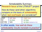 schedulability summary