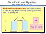 semi partitioned algorithms may or may not be util loss