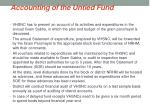 accounting of the untied fund