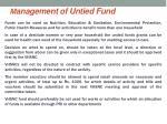 m anagement of untied fund