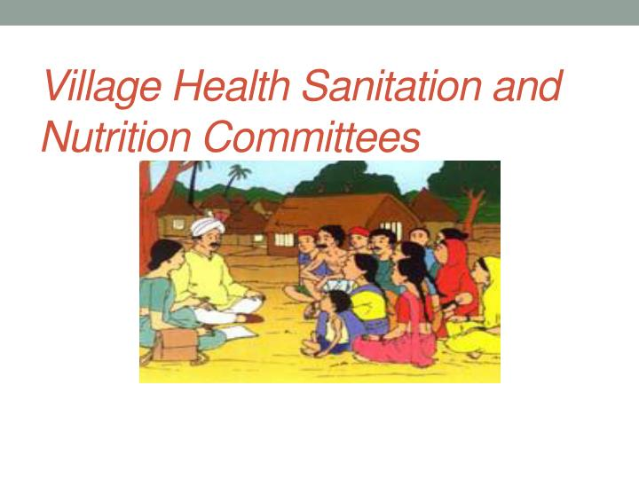 village health sanitation and nutrition committees n.