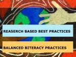 balanced biteracy practices