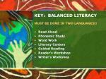 key balanced literacy