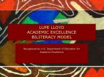 lupe lloyd academic excellence biliteracy model