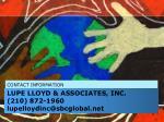 lupe lloyd associates inc 210 872 1960 lupelloydinc@sbcglobal net