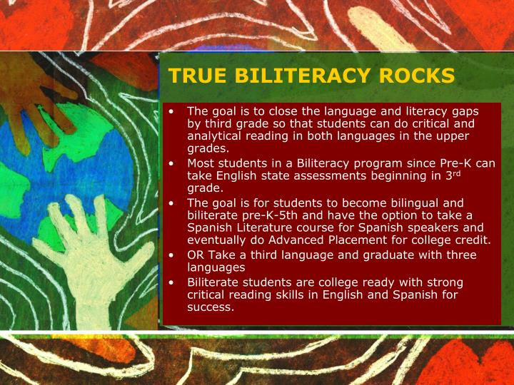 TRUE BILITERACY ROCKS