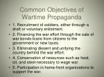 common objectives of wartime propaganda