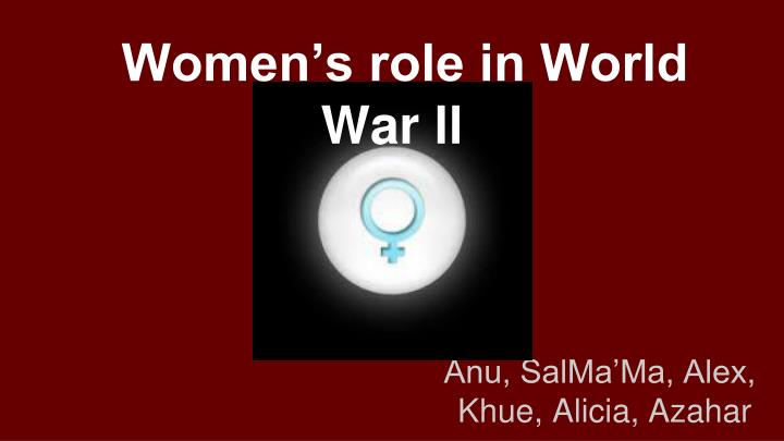 women s role in world war ll
