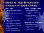 global vs multi dimensional measures of safety climate