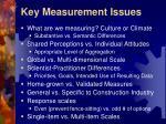 key measurement issues