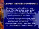 scientist practitioner differences