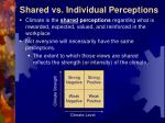 shared vs individual perceptions