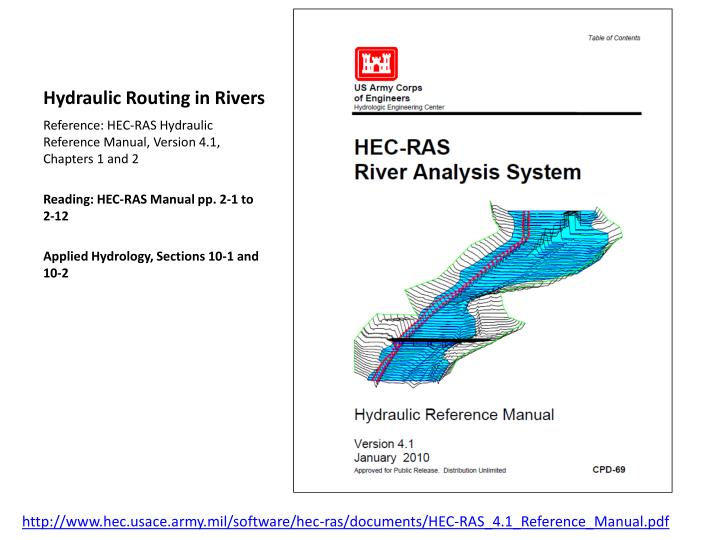 hydraulic routing in rivers n.