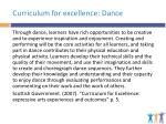 curriculum for excellence dance