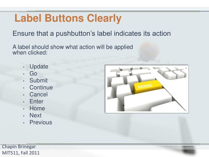 Label Buttons Clearly