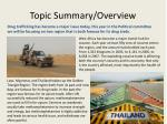 topic summary overview
