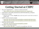 getting started at chpc