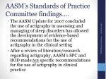 aasm s standards of practice committee findings