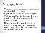 actigraphy basics