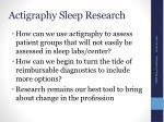 actigraphy sleep research