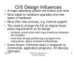 o s design influences