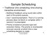 sample scheduling