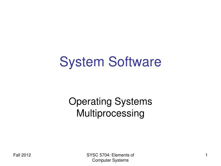system software n.