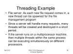 threading example