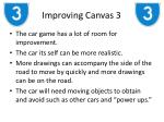 improving canvas 3