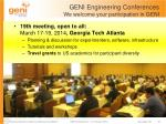 geni engineering conferences we welcome your participation in geni