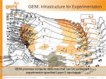 geni i nfrastructure for experimentation1
