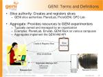 geni terms and definitions1