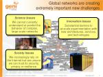 global networks are creating extremely important new challenges