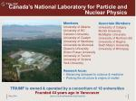 canada s national laboratory for particle and nuclear physics