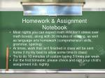 homework assignment notebook
