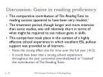 discussion gains in reading proficiency