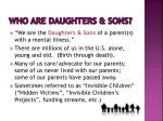 who are daughters sons