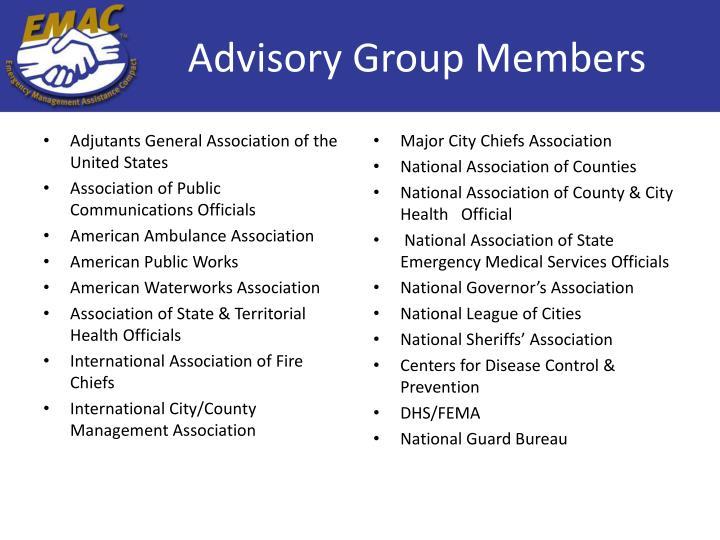 Advisory Group Members
