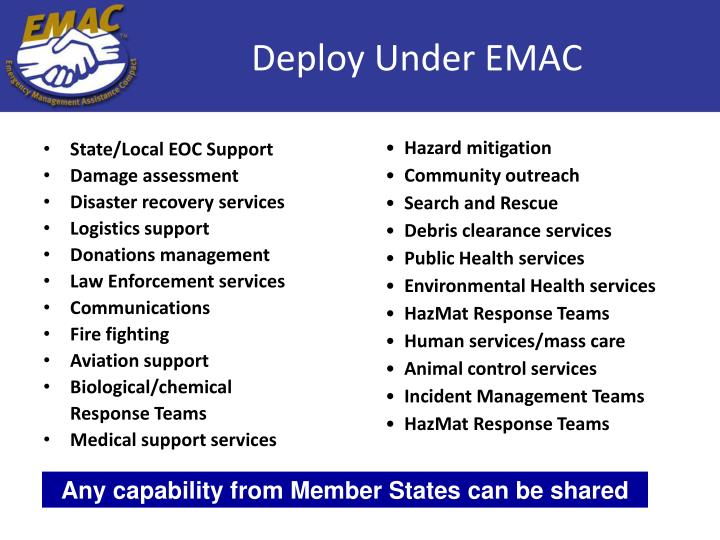 State/Local EOC Support