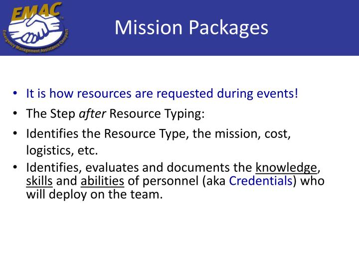 Mission Packages